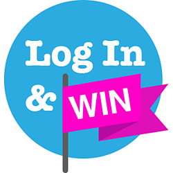 Log In and Win Logo (Hot Pink)