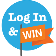 Log In and Win Logo (Orange)