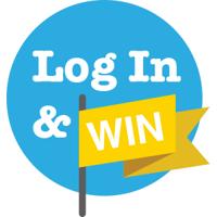 Log In and Win Logo (Yellow)