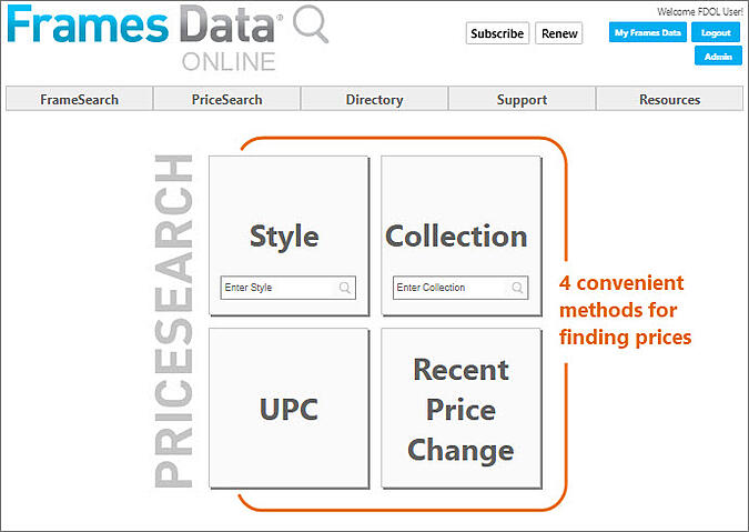 PriceSearch Screenshot