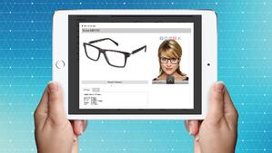 Display eyewear online and sell in-store.