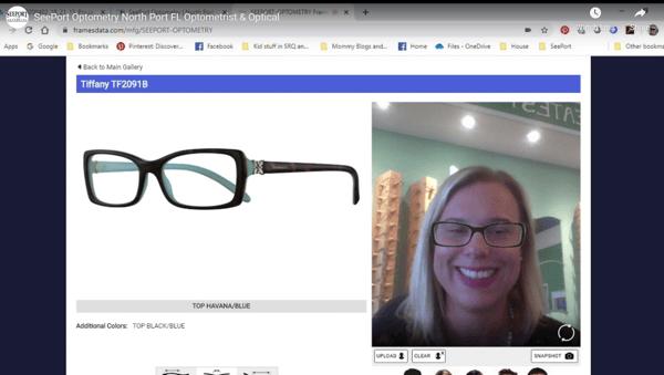 Seeport Optometry demonstrates My Frame Gallery
