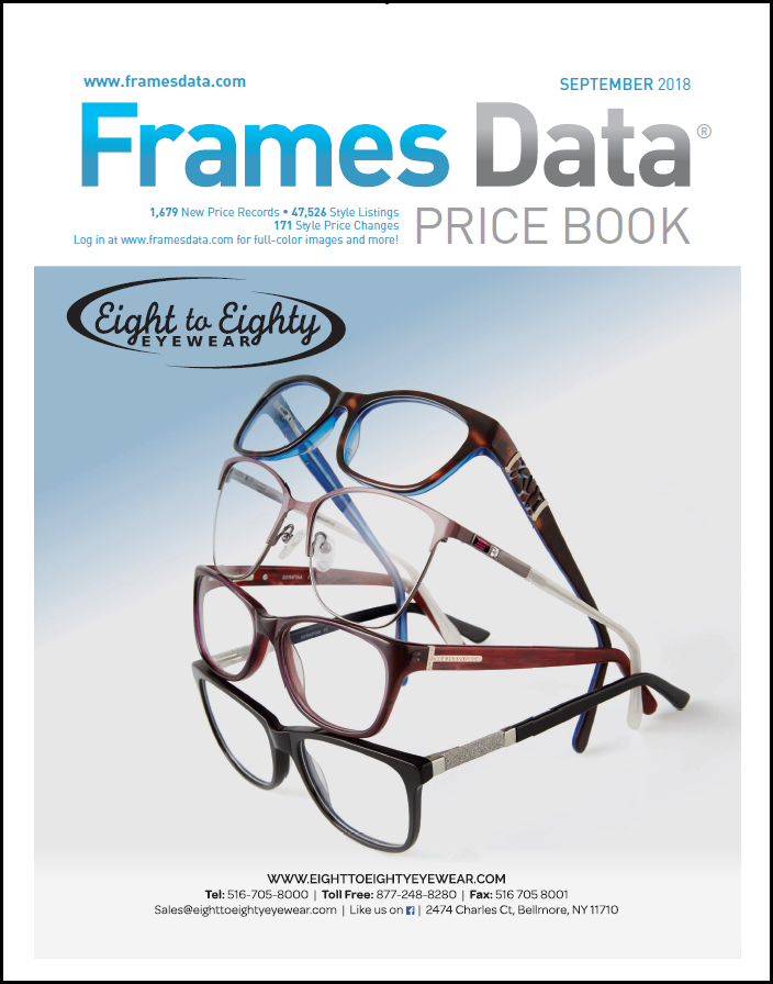 September Price Book features stylish and affordable Eight to Eighty Eyewear