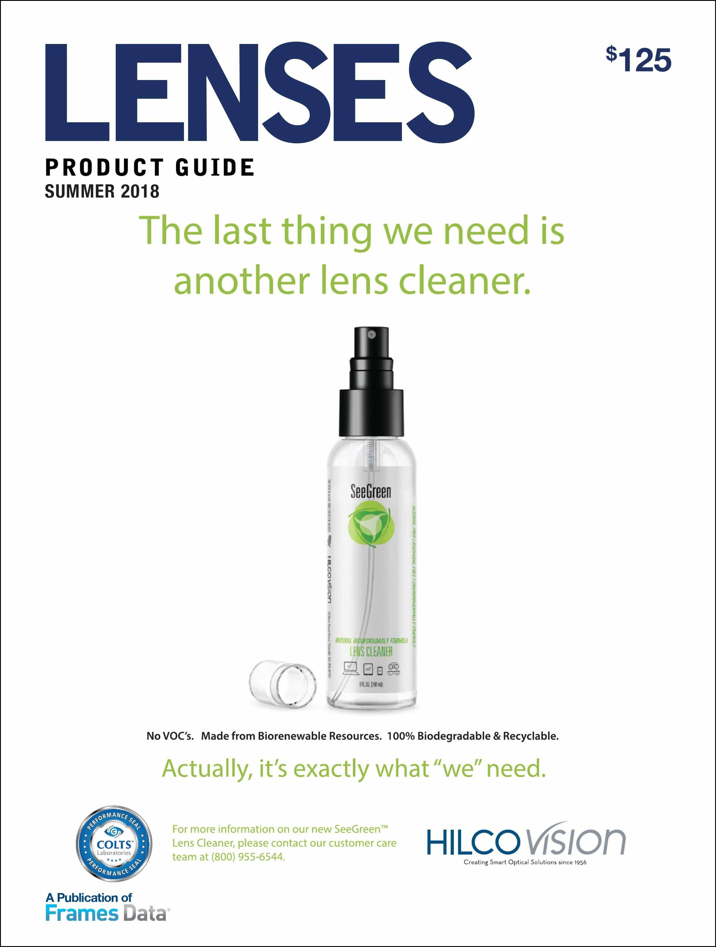 Summer Lenses Product Guide features Hilco Vision